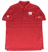 Nike NFL On Field New York Giants Team Issue Polo Shirt Men's Size XL Dri Fit