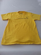 nike lance armstrong live strong MENS YELLOW small tshirt cycling bike S COTTON