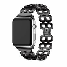 New Custom 42mm Metal Bracelet Stainless Steel Strap Band for Apple Watch Black