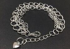 Multi Strand Chain Bracelet with Mini LOVE HEART Boho Bijoux