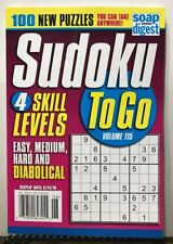 Sudoku To Go Skill Levels 100 New Puzzles Volume 115 2019 FREE SHIPPING JB