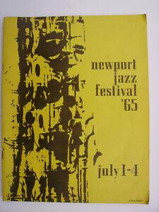 Newport Jazz Festival 1965 Program