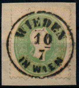 ÖSTERREICH 1861 3Kr, grün, zentriert. WIEDEN/IN WIEN. PRACHT!