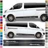 Auto Seiten-Streifen Aufkleber-Set,Dekor-Sticker komp. mit Ford Transit Custom