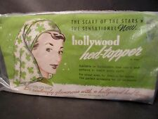 Hollywood Head Topper Vintage 1950's Blue Scarf Arlis Mfg. Co.New in Package!