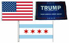 3x5 Trump #1 & USA American & City of Chicago Wholesale Set Flag 3'x5'
