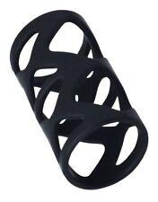Anello fallico guaina per il pene indossabile ritardante nero stimolante sex toy