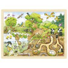 Puzzle Holzpuzzle Einlegepuzzle Erlebnis Natur 96 Teile Goki 57582
