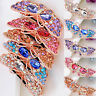 Womens Crystal Rhinestone Hairpin Butterfly Barrette Hair Clip Slide Accessories