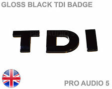 Noir Brillant TDI badge-turbo diesel voiture van boot-UK rapide POST