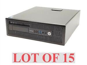 HP ProDesk 600 G1 SFF Intel i5-4570 3.20GHz 8GB 500GB NO OS Computer PC Lot 15