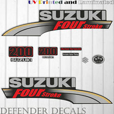 Suzuki 200 hp Four Stroke outboard engine decal sticker set reproduction 2004