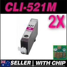 2x Magenta Ink Canon CLI521 CLI521M MP620 MP630 MP640 MP980 MP990 MX860 MX870