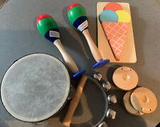 Kinder-Musikinstrumente -Set Percussion aus Holz mit Puzzle