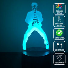 ELVIS JAILHOUSE ROCK 3D Acrylic LED 7 Colour Night Light Touch Table Lamp