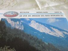 Alpenbahnen Westalpen K 36 Brünig Bahn Meiringen Brienzer See  Interlaken Ost