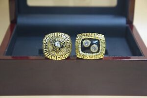 2pcs ring 1991 1992 Pittsburgh Penguins Stanley Cup Championship ring //
