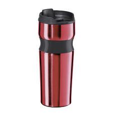 Oggi 5080.1 Stainless Steel Lustre Contour Travel Mug, Red