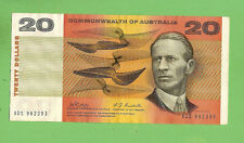 1968 TYPE PHILLIPS/RANDALL  C of A  $20 PAPER BANKNOTE XDS 982393