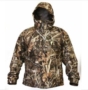 Drake Waterfowl Rain Jacket Youth Young Guns Max 4 Camo Size 16 DW259002