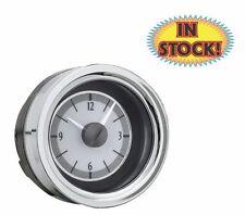 Dakota Digital 1955-56 Chevy Car Analog Clock - Silver Alloy w/ Blue VLC-55C-S-B
