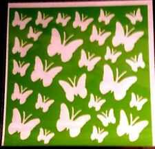 BUTTERFLY Stencil Washable Reusable Plastic 6