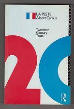 ALBERT CAMUS  =  LA PESTE  =  {ROUTLEDGE 20th CENTURY TEXTS FRENCH}  =