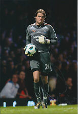 Tim KRUL SIGNED Autograph Newcastle United Signed 12x8 Photo AFTAL COA Authentic