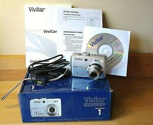 Vivitar Vivicam 7310 7 Mega Pixels Digital Camera~Boxed~Strap~Carry Case SD Card