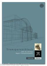 Transparent papier bloc a4 25 feuilles 80 g/qm transparent papier