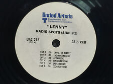 Radio Spot 7 Inch Vinyl Record 33RPM  LENNY 1974 - Hoffman - 2 Sides - VERY RARE