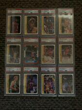 1986-87 fleer basketball Michael jordan psa 8 + complete sticker set psa 8