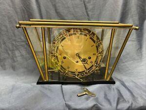 Atlanta Tischuhr 4/4 Westminster Schlag 50er Jahre Rockabilly Vintage Design Uhr