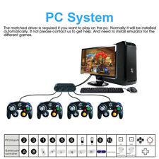 GameCube Controller Adapter for Wii u Pc Switch USB Mac OS No Driver Need 4 Port