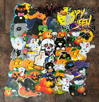 Halloween Diecuts Lot Of 31 Cat Witch Ghost Jack O Lantern