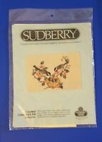 SUDBERRY Chickadees with Babies Nest COUNTED CROSS STITCH KIT for Large Mirror