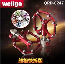 "1pair Wellgo Quick Release C247 Aluminium Ultralight Smooth Bicycle Pedals 9/16"""