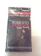ROBERTO BENIGNI TUTTO DANTE nr 7 dvd+libro La Repubblica L'Espresso  SIGILLATO