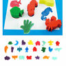 Childrens Kids 24 Paint Animal Shaped Bath Toy Sponge Set for Art Craft Painting