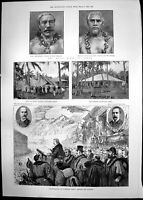 Old Print Kings Samoa Incorporation Tunbridge Wells Parnell Inquiry 1889 19th