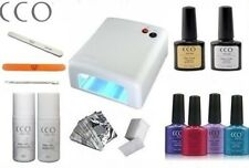 Professional SMALL CCO Nail Gel Polish Starter Kit Set with ANY 4 COLOUR GELS!!!