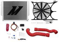 "MISHIMOTO BMW E30/E36 X-Line Radiator+Shroud+Fan+Hose+1/8"" NPT FAN CONTROLLER RD"