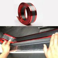 7CM*1M Car Carbon Fiber Rubber Edge Guard Strip Door Sill Protector Accessories