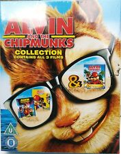 ALVIN AND THE CHIPMUNKS (3-DISC BLU-RAY SET, 2012) THE SQUEAKQUEL, CHIPWRECKED