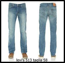 Jeans uomo levis elasticizzato taglie forti pantalone 58 w44 regular a vita alta