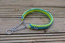 Paracord Half Choke Collar, King Cobra Heavy Chain