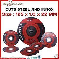 "50 x 5"" 125MM CUTTING DISC WHEEL THIN ANGLE GRINDER CUT OFF METAL STEEL FLAP"