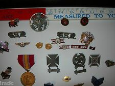 Vintage~WWII MILITARY ARMY-NAVY-MARINES-AIR FORCE~Medals-Badges-Pins-Ribbons