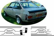 Ford Escort MK2 MEXICO or 1600 or 1300 SPORT STICKERS STRIPE KIT DECALS VINYLS