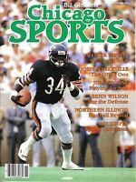 1983 Bill Gleason Chicago Sports Football magazine,Chicago Bears,Walter Payton N